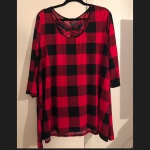 Buffalo check boutique top.